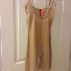 Spanx nude color body suit/shorts